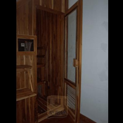 Sauna en teka-min